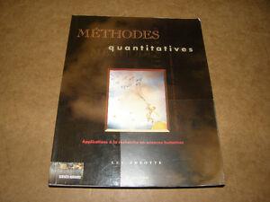 Livre Méthode Quantitatives -  Luc Amyotte - 15$