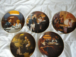 14 NORMAN ROCKWELL LIMITED EDITION  COLLECTORS PLATES