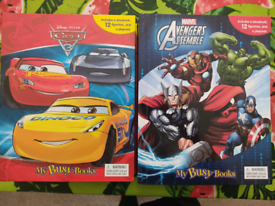Cars and Marvel Avengers Busy Books