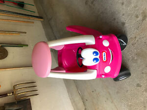Pink little tikes coupe