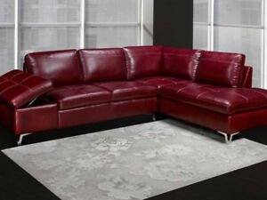 Air Leather Sectional. Available in 3 Colors