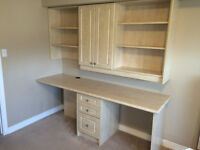 HIGH QUALITY DESK FOR TWO SEATS (CABINET, SHELF, DRAWER)
