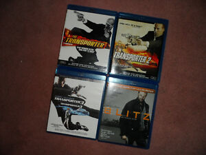 Four (4) Jason Statham Blu-ray movies