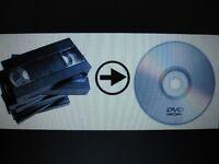 Transfer VHS to DVD only $10.00/dvd