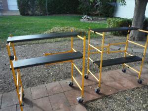 2 - scaffolds  48in. high x 40 in. long x 22 in. deep ----
