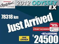 2012 Honda Odyssey EX w/Rear DVD -- Deal pending