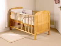 Pine Baby Cot - Excellent Condition