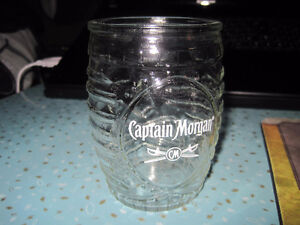 Captain Morgan Tiki Head Barrel Drinking Glass
