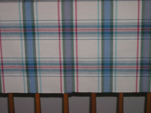 Green, Blue & Red on Beige Plaid Fabric For Sewing Project