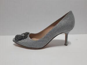 Single Shoe Manolo Blahnik Silver Pump One Shoe Left Only 35.5