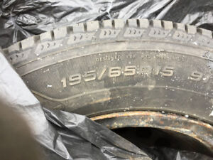 195 65 r15 BRIDGESTONES 4 winter tires