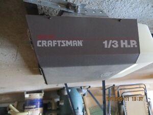 FOR SALE:   1/3 H.P CRAFTSMAN GARAGE DOOR OPENER