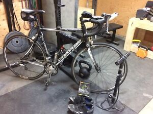 2012 CANNONDALE SYNABSE TIAGRA 56CM & Kurt kinetic trainer