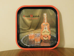 Vintage Grand Macnish Scotch Whisky Metal Tray