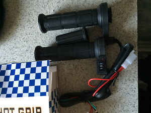 Motorcycle heated hand grips