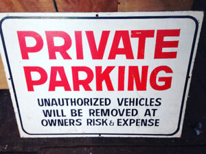 Private Parking Sign Wood $25