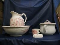 Antique 5 Piece Pitcher/Bowl Set