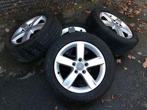 audi a3 winter wheels 205/55r16 x-ice michelin genuine audi rims