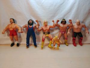 Lot de 6 figurines de lutte WWF TITAN
