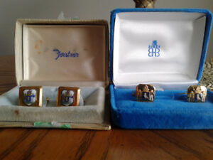 Cufflinks-City of Halifax Crested-Antiques-2 pair