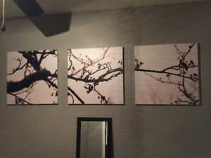 3 large Canvas paintings/pictures