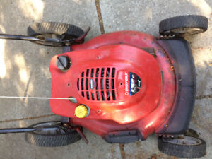 Troy-bilt 6.75 hp Tecumseh gas mower. As is $50. Not