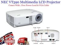 Genuine NEC VT590 3 LCD XGA Projector with high Lumens and plenty Lamp Hours