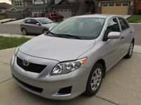 2009 Toyota Corolla Low km, two sets of tires, very Clean