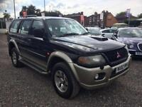 2002 MITSUBISHI SHOGUN SPORT 2.5 TD Equippe FULL LEATHER SIDE STEPS SUNROOF