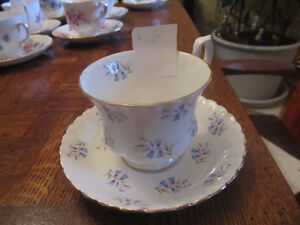 tea cups and saucers  anysley, royal albert, woods and sons...