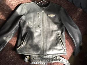 100th anniversary leather Harley Davidson jacket w/chaps