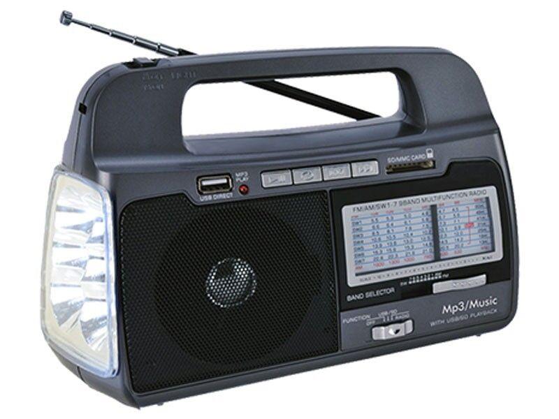 SUPERWSONI9C SC-1082 9-Band AM-FM-SW1-7 Portable Radio - Fre