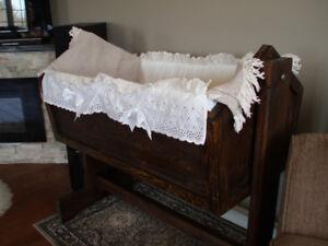 Solid Wooden Baby Cradle