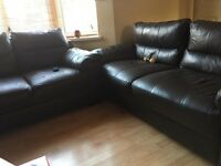 Two leathers sofas for sale £50