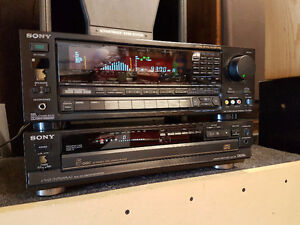 Classic High End Sony  receiver and cd player