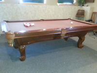 Slate hand carved pool table