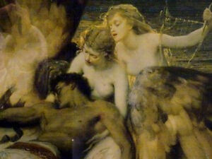 LAMENT FOR ICARUS Herbert Draper PRINT FRAMED nymphs MYTHICAL Cambridge Kitchener Area image 3