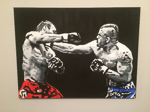 Chuck liddell vs Randy Couture18x24 canvas Painting