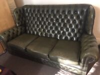 Chesterfield Sofa Queen Anne's Leather 3 Seater