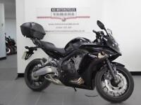 16 REG HONDA CBR 650 F AE ABS 1 OWNER FROM NEW FULL HONDA HISTORY AND TOP BOX