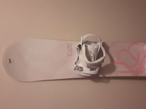 Snowboard with binding and boots