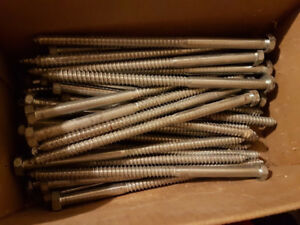 "42 - 10"" LAG BOLTS, NEW"
