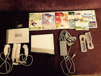 Wii System with 2 controllers and 6 games