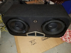 """Bassworx subwoofers two 12"""" sound system"""