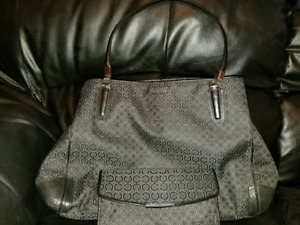 Black Coach Purse and Matching Wallet