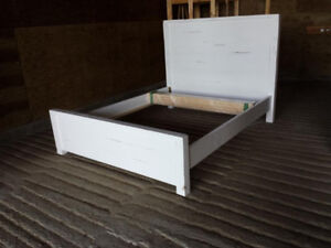 CLEARANCE SALE: Modern Harvest - queen size bed frame solid wood