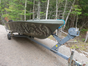 14 Foot Boat, Motor, Trailer