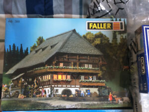 Model Train HO scale Faller and Pola Buildings