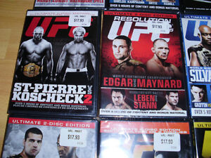 15 BRAND NEW UFC DVDs - $315 Value