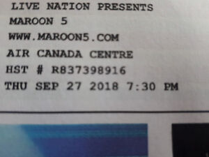 CONCERT TICKETS TO MAROON 5